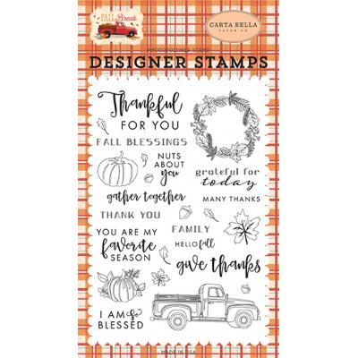 Carta Bella Clear Stamps Fall Break - Gather Together