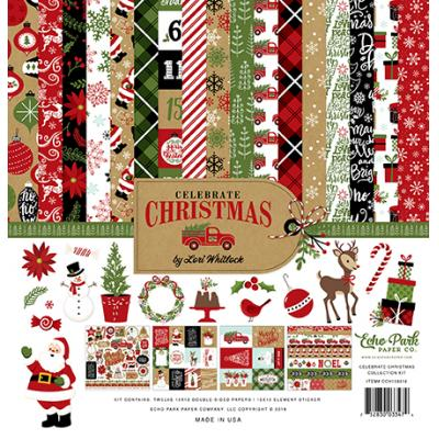 Echo Park Celebrate Christmas Designpapier - Collection Kit