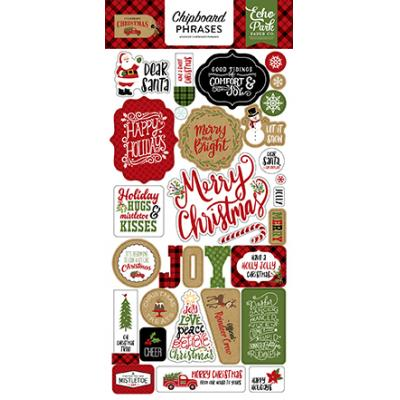 Echo Park Celebrate Christmas - Chipboard Phrases