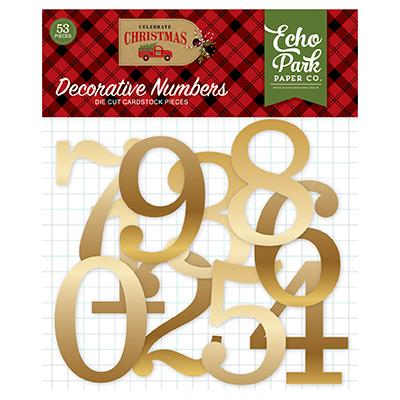 Echo Park Celebrate Christmas - Decorative Gold Foil Numbers