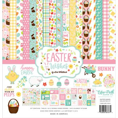 Echo Park Easter Wishes Designpapier - Easter Wishes Collection Kit