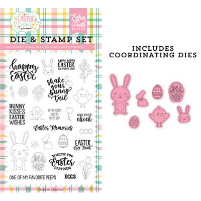 Echo Park Clear Stamps und Outline-Stanzen Easter Wishes - Easter Memories