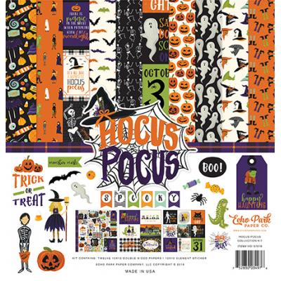 Echo Park Hocus Pocus Designpapier - Collection Kit