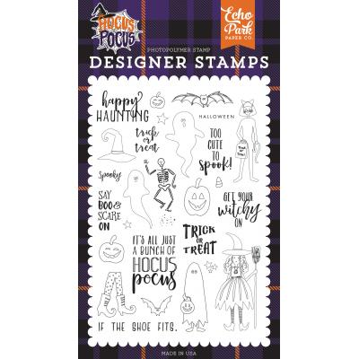 Echo Park Clear Stamps Hocus Pocus - Happy Haunting