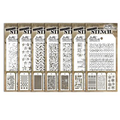 Stampers Anonymous Tim Holtz - Mini Layered Stencil Sets